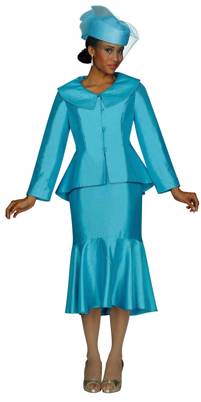 593a2f079731 Women Church Suits TURQUOISE G4162 | | Usher-Uniforms.com