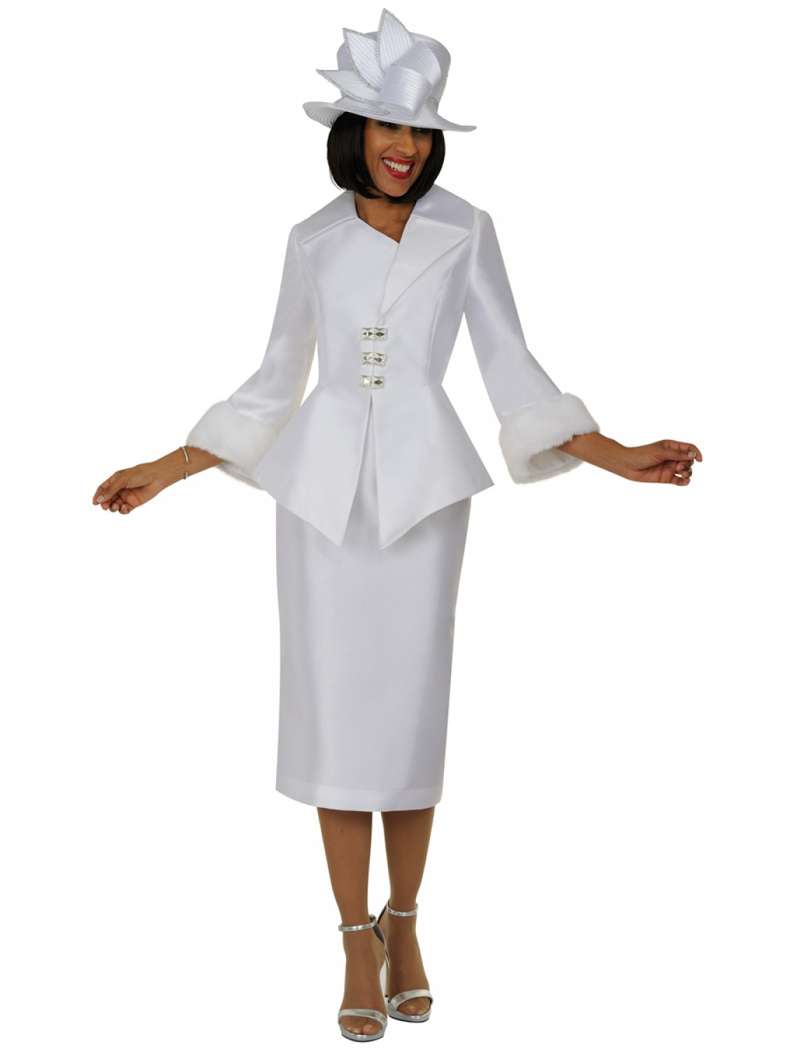 Women Church Suits WHITE N94592 | N94592 | Usher-Uniforms.com