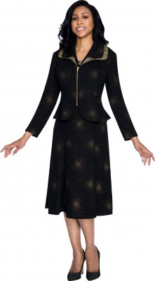 Modest Dresses for Church-DN4292 - BLACK/GOLD