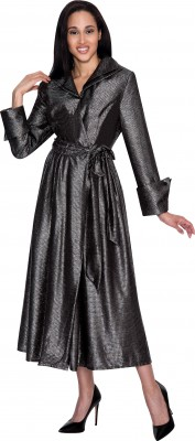 Modest Dresses for Church-DN4361 - GUN METAL GREY