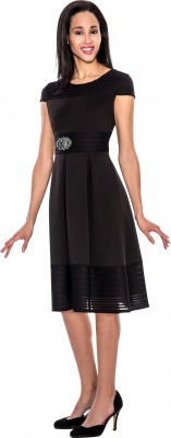 Modest Dresses for Church-DN4401 - BLACK