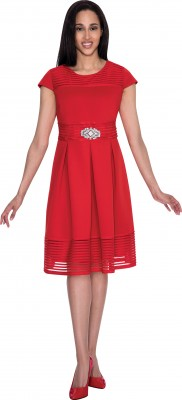 Modest Dresses for Church-DN4401 - RED