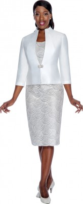 Modest Dresses for Church-DN4602 - WHITE