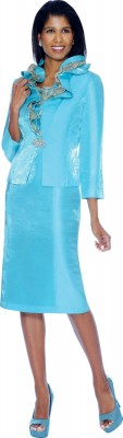 Modest Dresses for Church-DN5012 - TURQUOISE