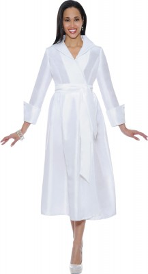Modest Dresses for Church-DN5371 - WHITE