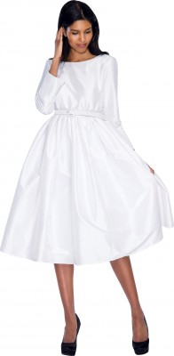 Modest Dresses for Church-DN5871 - WHITE