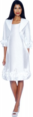 Modest Dresses for Church-DN5912 - WHITE