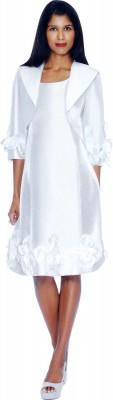 Modest Dresses for Church-DN5912 - WHITE