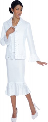 Church Denim Suits-DS50493 - WHITE