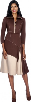 Church Suits-DS50632 - BROWN / CREAM