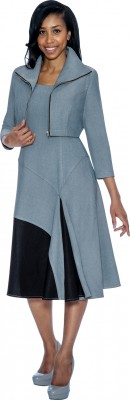 Church Denim Suits-DS50632 - SILVER / BLACK