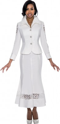 Church Denim Suits-DS50672 - WHITE