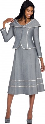 Church Denim Suits-DS51062 - SILVER