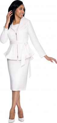 Church Denim Suits-DS51082 - WHITE