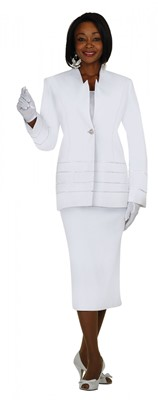 Usher Uniforms-G23108 - WHITE