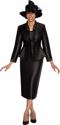Church Suits-G5343 - BLACK