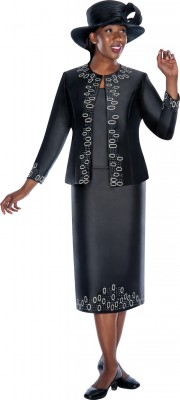 Church Suits-G5383 - BLACK