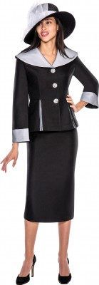 Church Suits-G5782 - BLACK / WHITE