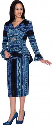 Church Suits-N93442 - BLUE MULTI