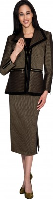 Church Suits-N93533 - GOLD / BLACK