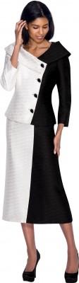Church Suits-N93582 - BLACK WHITE