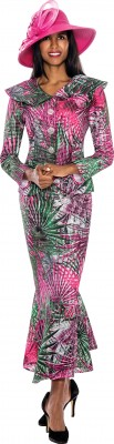 Church Suits-N93742 - MULTI PINK