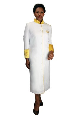Choir Robes-RR9001 - WHITE/GOLD